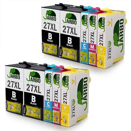 155 opinioni per JARBO Compatibile Epson 27XL Cartucce d'inchiostro (4 Nero,2 Ciano,2 Magenta,2