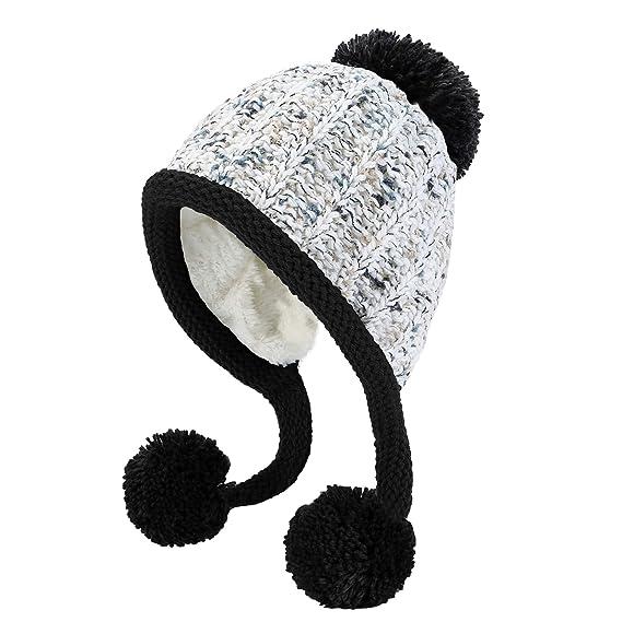 9eb72d281 HUAMULAN Women Winter Thick Beanie Hat Ski Ear Flaps Caps Dual Layered