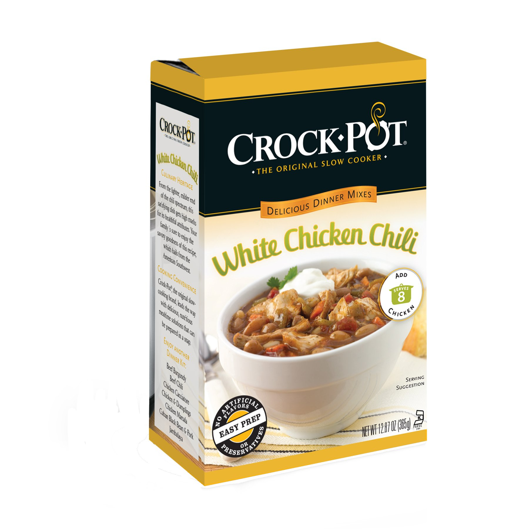 Crock-Pot Delicious Dinners, White Chicken Chili, 12.87 Ounce (Pack of 6) by Crock-Pot (Image #1)