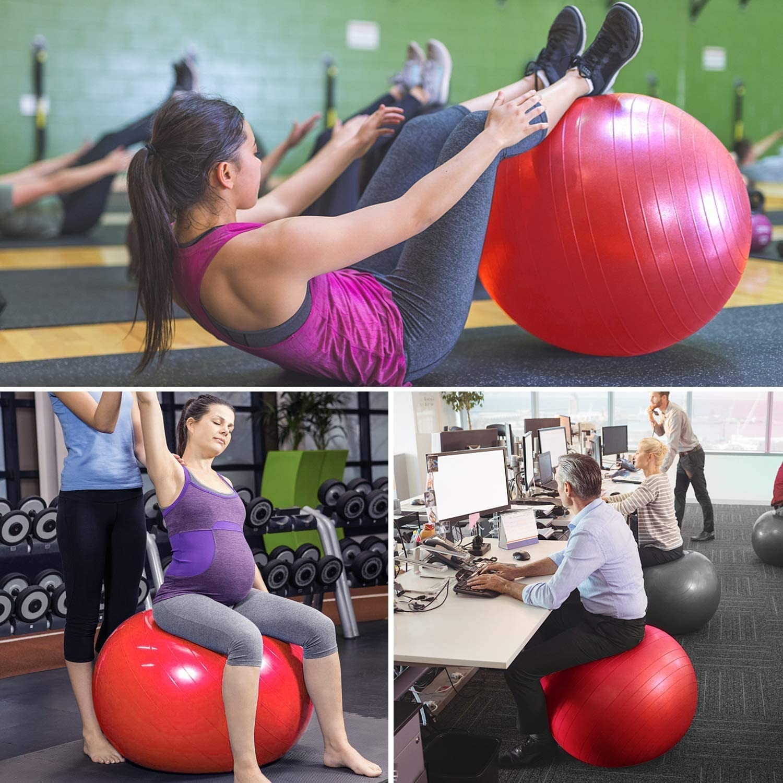 yoga et pilates Toplus Ballon de fitness avec pompe rapide pour fitness