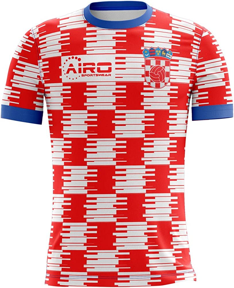 Airosportswear 2020-2021 Croatia Home Concept Football Soccer T-Shirt Jersey