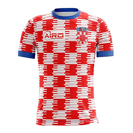 9e5e9248aaf7 Amazon.com : Airo Sportswear 2018-2019 Croatia Home Concept Football Soccer  T-Shirt Jersey : Clothing