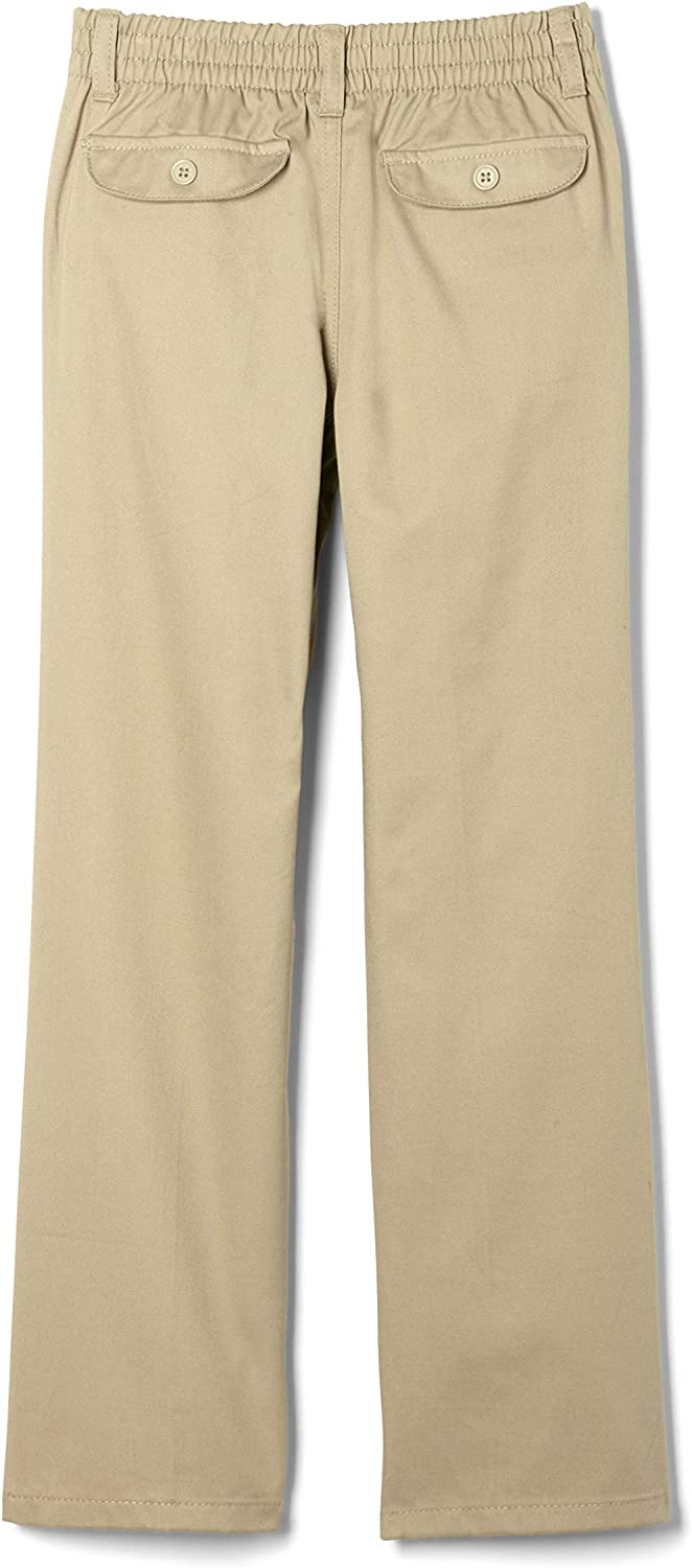 Standard /& Plus Bootcut Khaki French Toast Girls Pull-On Twill Pant 8