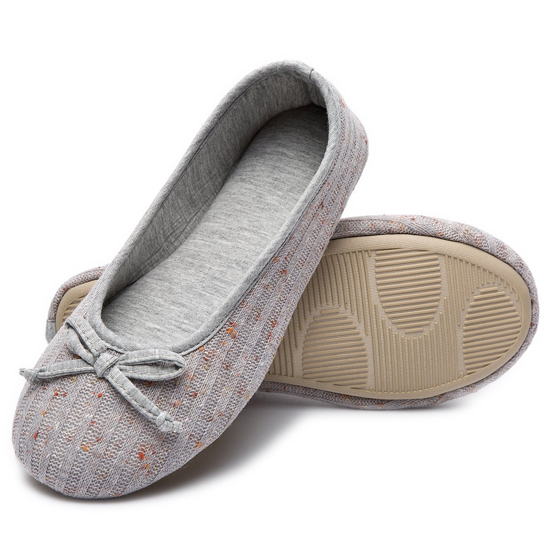 HomeTop Women/'s Elegant Cashmere Knitted Memory Foam Indoor Ballerina House Slippers//Shoes