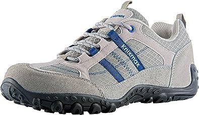 Knixmax Zapatillas de Senderismo para Hombre, Zapatillas de Montaña Trekking Trail Ligeros Cómodos y Transpirables Zapatillas de Seguridad Low-Top Antideslizante de Deporte(Negro, Gris, Marrón): Amazon.es: Zapatos y complementos