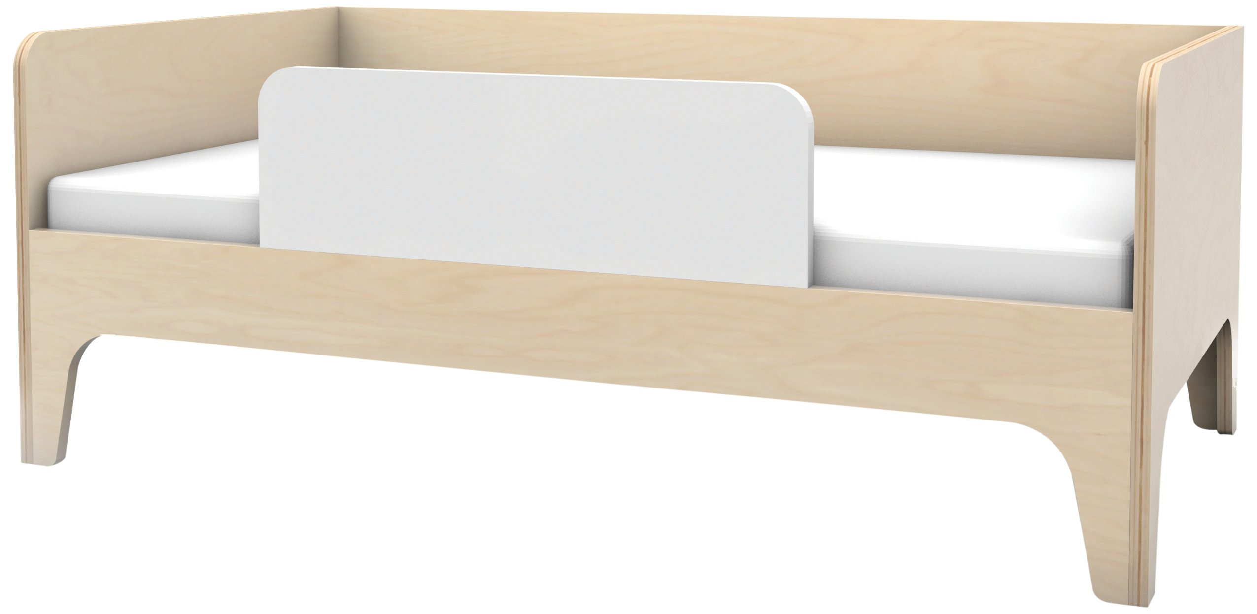 Oeuf Perch Toddler Bed, Birch/White by Oeuf