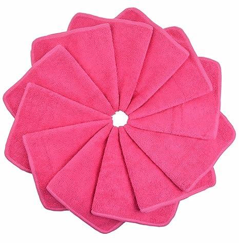 12 toallas microfibra – Color Rosa Oscura – Violetta – 2018 – muy bella acabado,