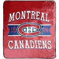 "NHL Luxury Velour Blanket - Montreal Canadiens Soft Cozy Throw 60"" x 80"""