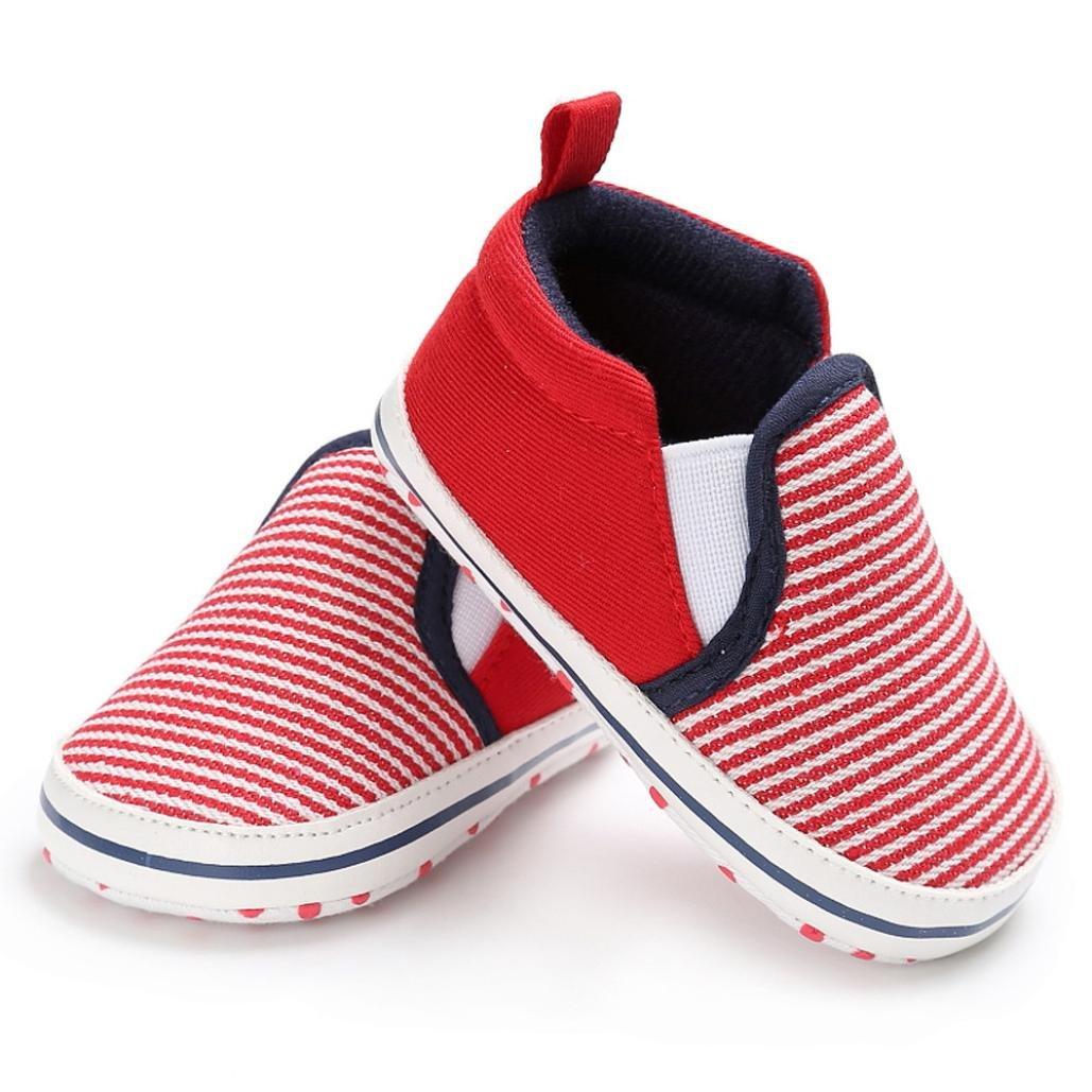 Vovotrade Clásico Bebé Niño Pequeño Cuna Zapatos Ponerse Zapatos Confort Primer Paso Mocasines Prewalker Suave Antideslizamiento Zapatos