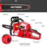 HUYOSEN Gas Power Chain Saws Red Black Corded