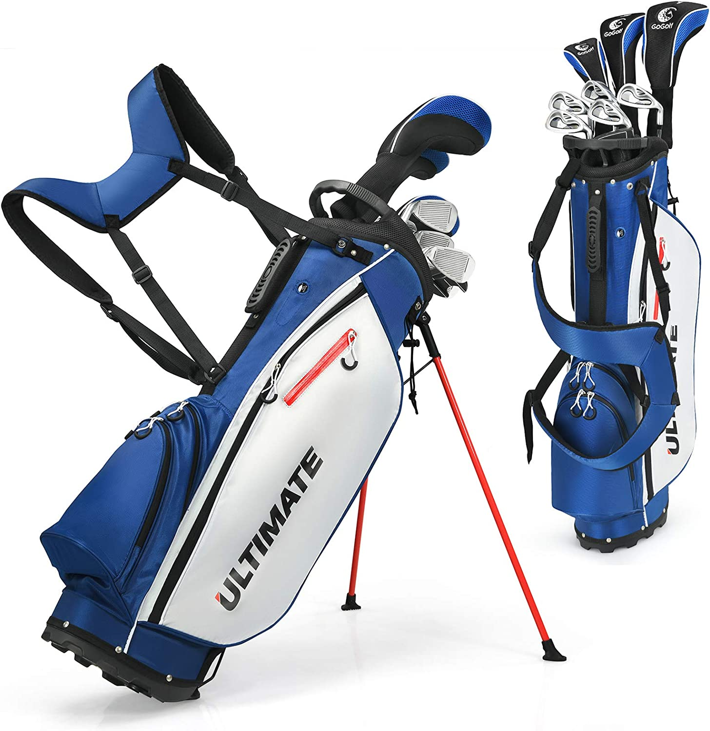 Tangkula 10 Pieces Complete Golf Clubs Set
