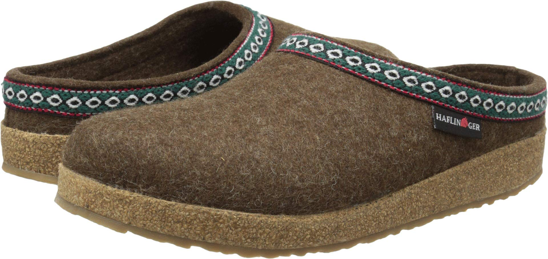 Haflinger GZ65 Classic Grizzly Clog, Chocolate, 9 M US Women's/7 M US Men's / 40 EU