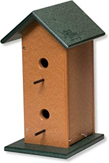 product image for DutchCrafters Eco-Friendly Poly Hanging Double Bird House (Turf Green & Cedar)