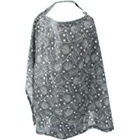 D DOLITY Baby Nursing Cover for Breastfeeding Privacy Soft 100% Cotton in Grey White