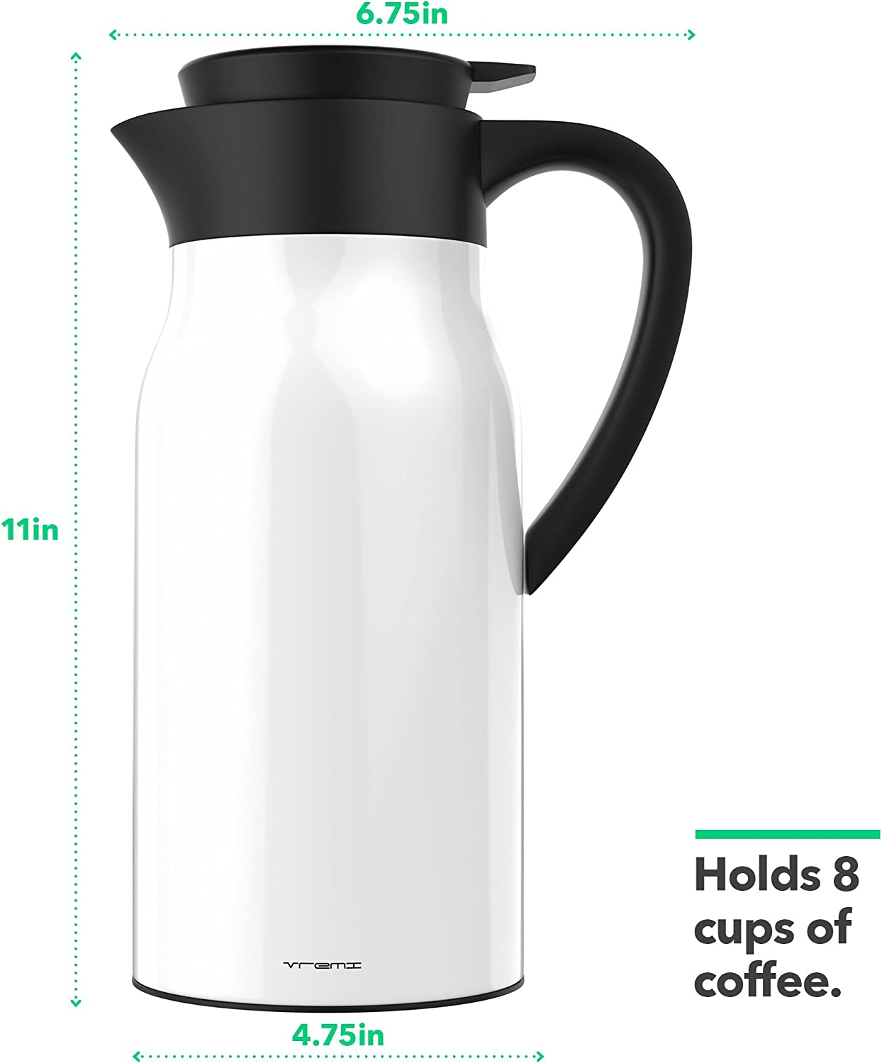 Cold Thermal Carafe Bottle 1.5L Flask Pot For Coffee Tea Water Silver