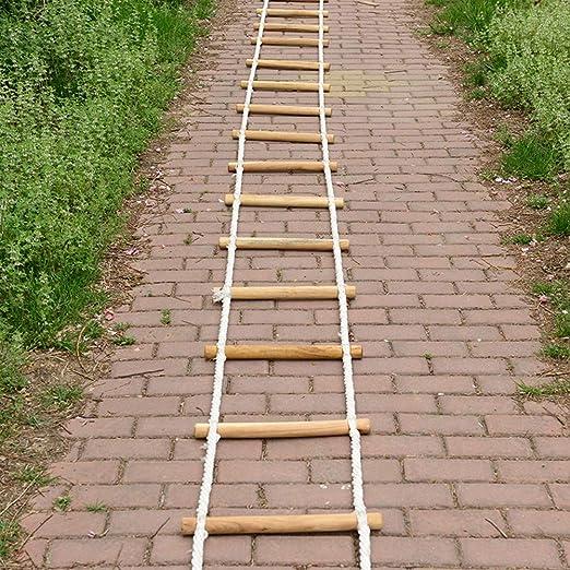 WEIFENG Escalera de Cuerda de Escape, Escalera de Seguridad de Escalera de Escape de Incendio de 10M Escalera de Seguridad con mosquetón de Gancho para niños y Adultos: Amazon.es: Jardín