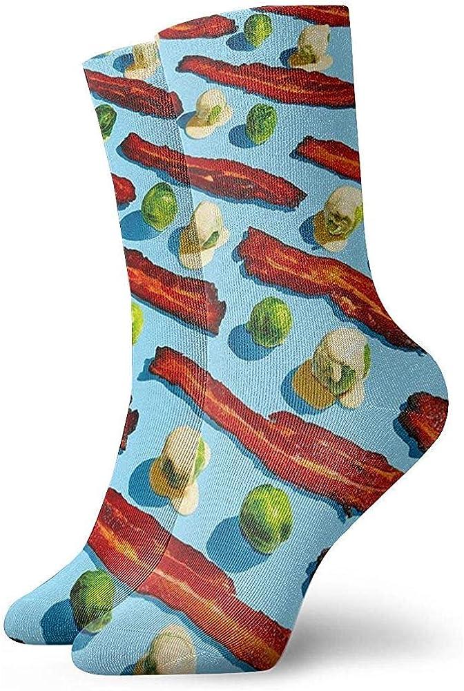 Uridy Bacon And Cabbage Pattern Weiche Unisex-Crew-Socke All-Seasons Short Sport Socks