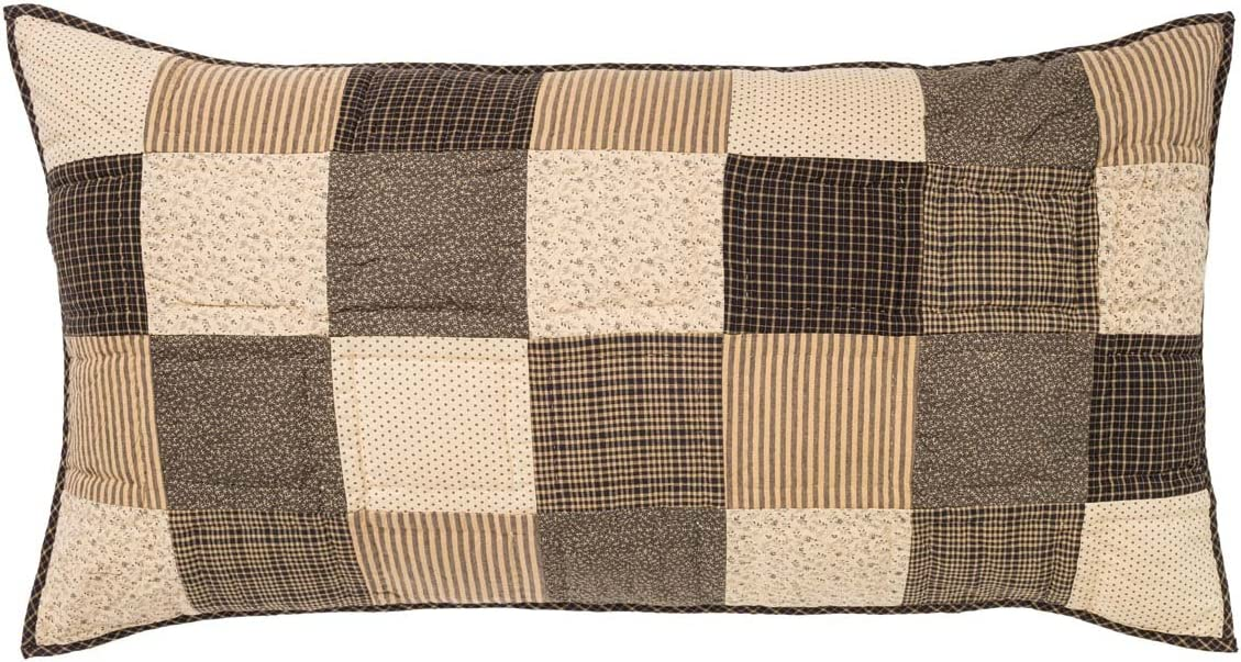 VHC Brands Kettle Grove King Max 85% OFF Patchw 21x37 Sham Large discharge sale Country Primitive