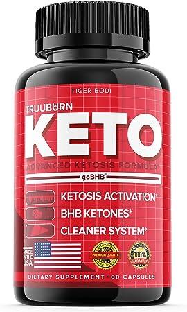 Truuburn Keto Diet Pills Truuburne with BHB Keto Truu Burn Advanced Advance Formula True Burn Tablets (60 Capsules)