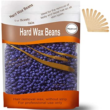 Amazon Com Hard Wax Beans Hard Body Wax Beans Auperwel Hair Removal Brazilian Pearl Depilatory Wax European Beads For Women Men 300g 10oz With 10pcs Wax Spatulas Beauty