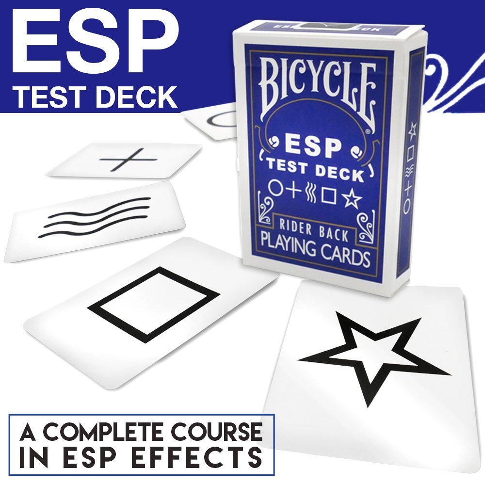 Magic Makers Bicycle ESP Test Deck with Rudy T Hunter, Includes Magic Instruction