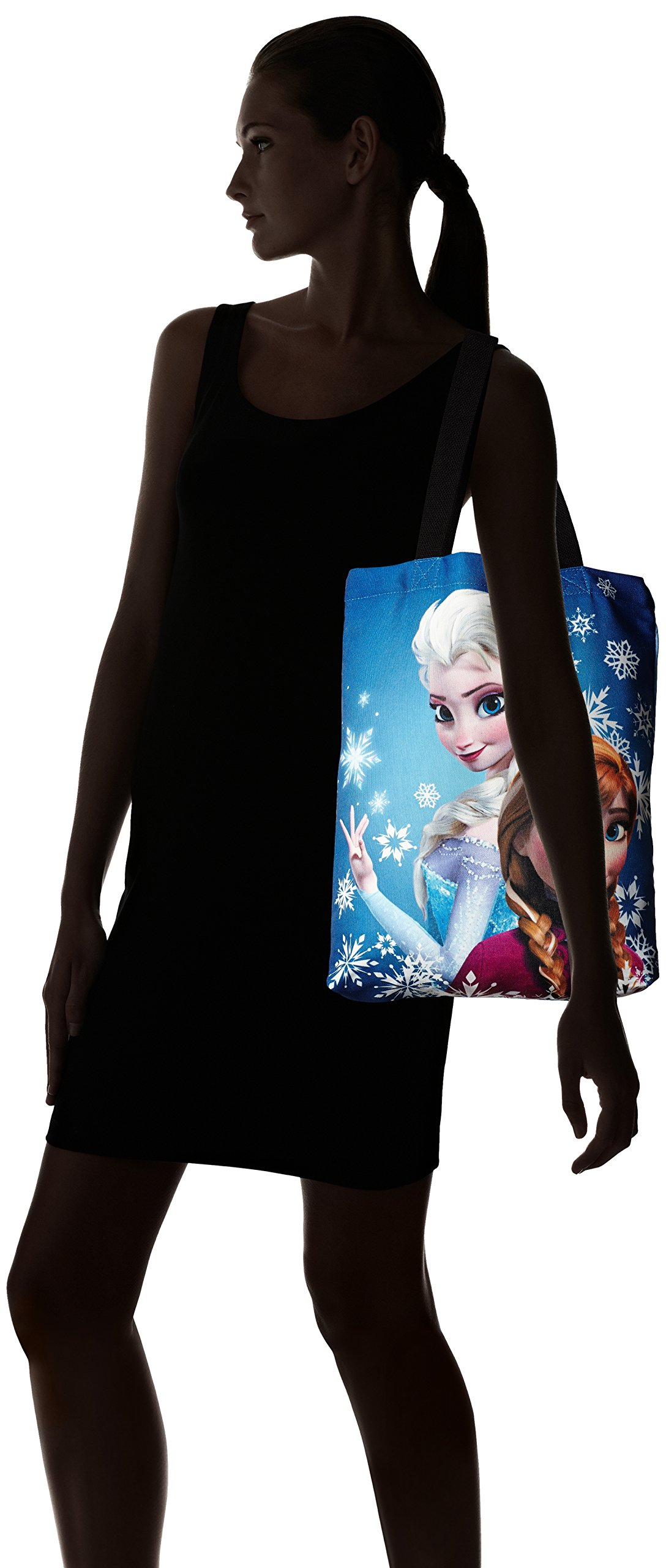 Concept One Handbags Frozen Anna and Elsa Sublimation Print Shoulder Bag, Royal, One Size by Concept One Handbags (Image #6)