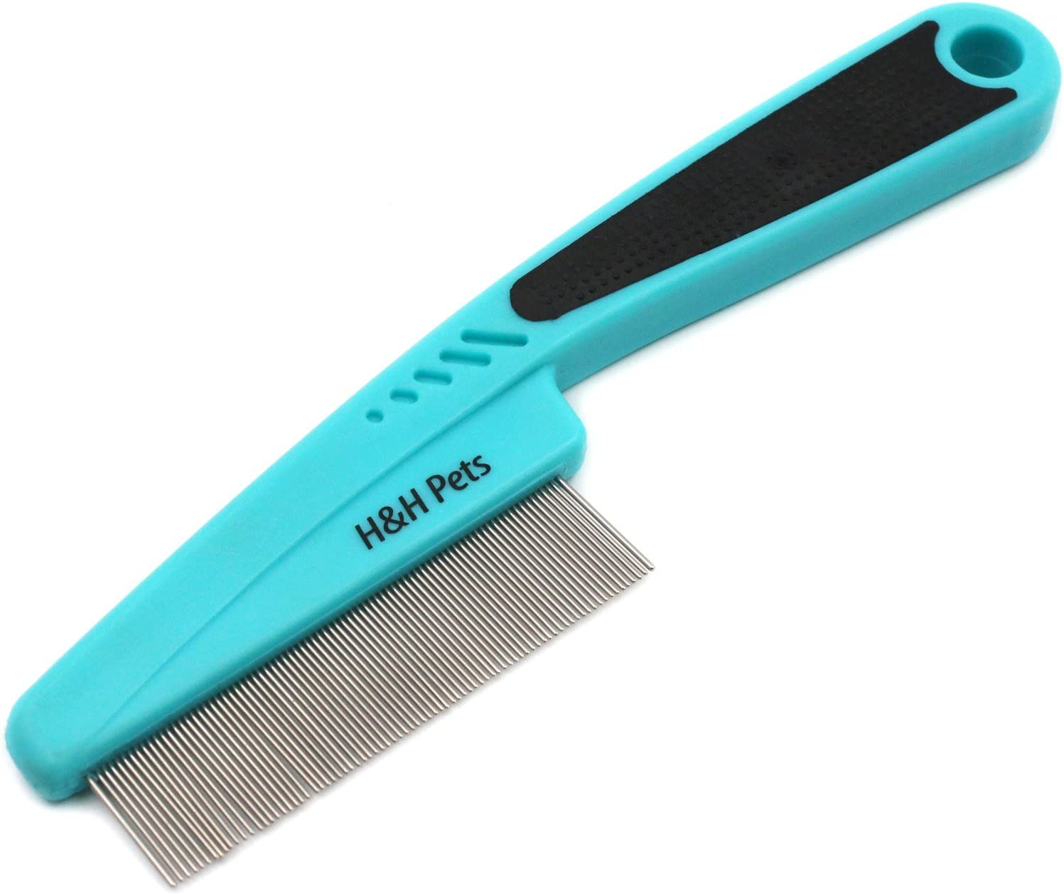 H&H Pets Flea Comb with Rubber Handle
