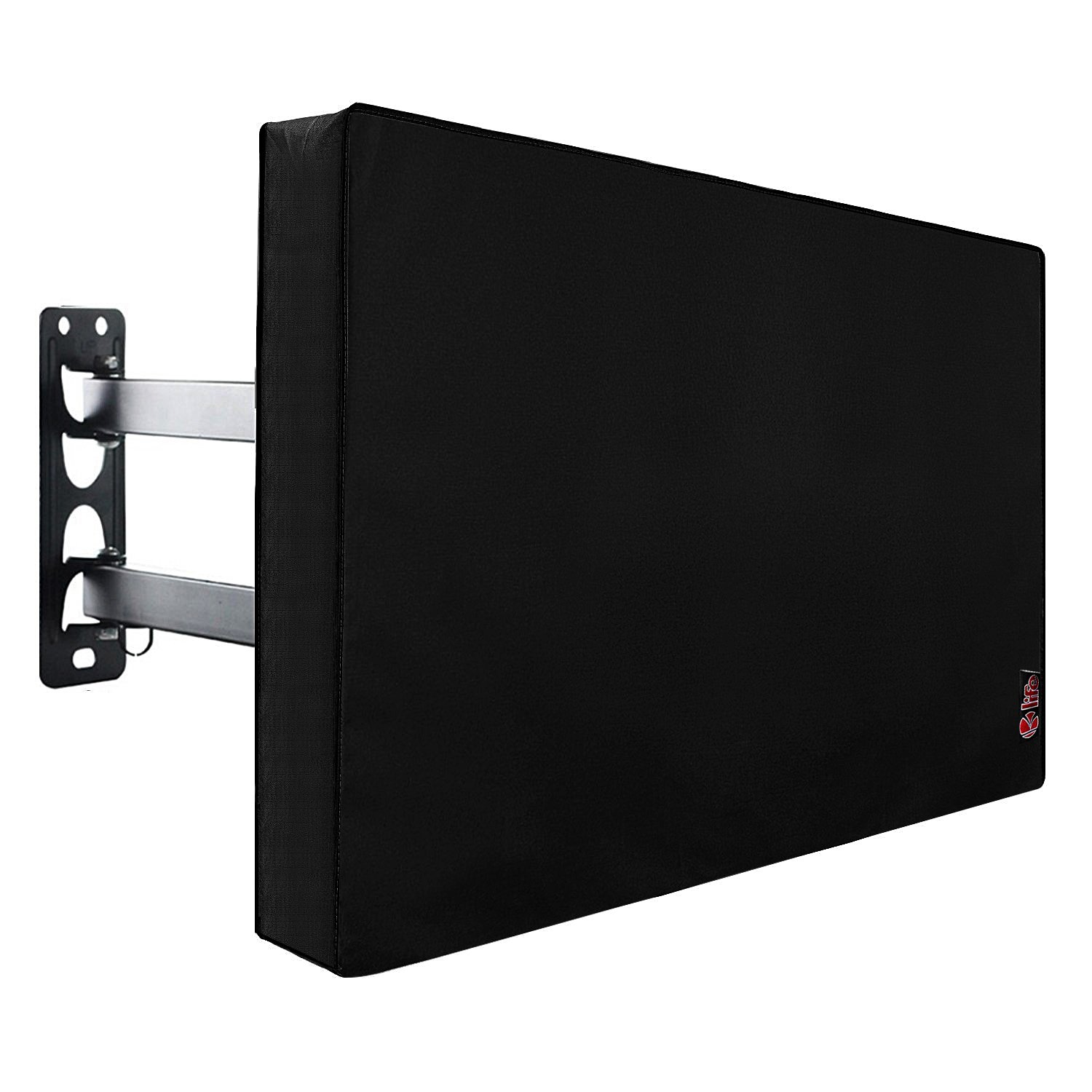 Outdoor TV Cover 40'' - 43'' with Scratch Resistant Liner, Bottom Seal, Weatherproof Universal Protector LCD, LED, Plasma Television Sets, Built in Remote Controller Storage Pocket