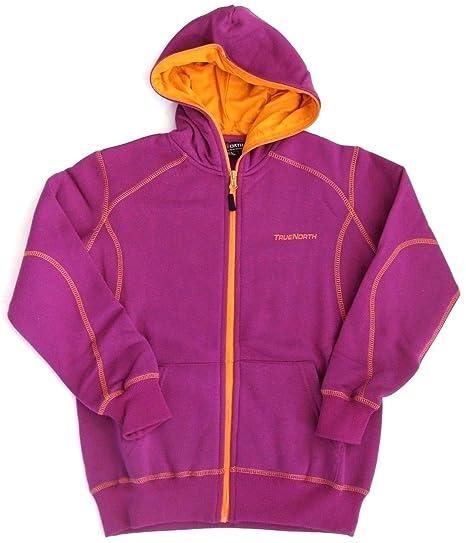 e382e23cd TrueNorth Girls' Hoodie purple fliederfarben: Amazon.co.uk: Clothing