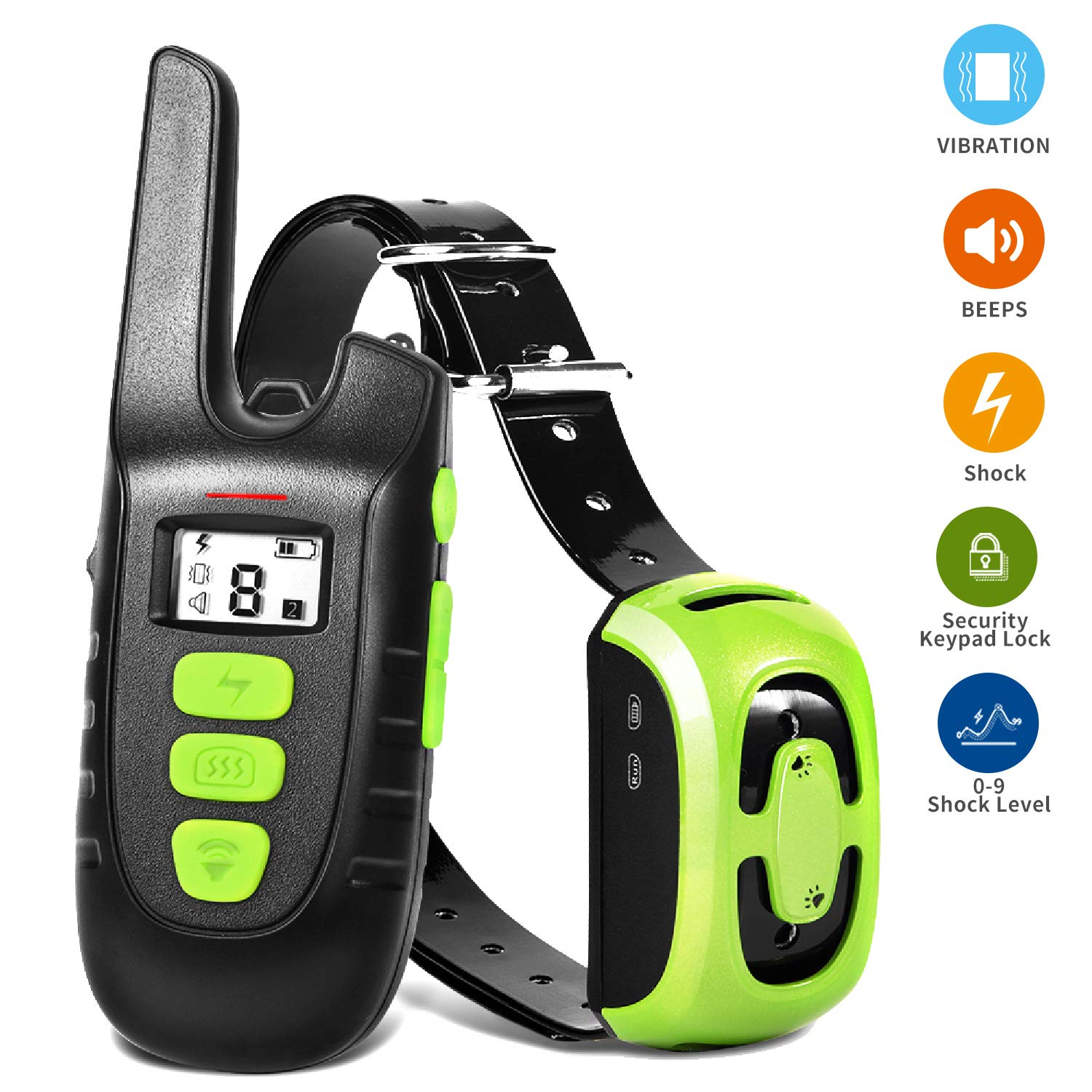 YIDA TECH Shock Collar for Dogs, Rechargeable Dog Shock Collar with Remote Control 1600ft Range, 100% IP67 Waterproof Beep, Shock, Vibrate Modes Dog Training Collar (DTC5)