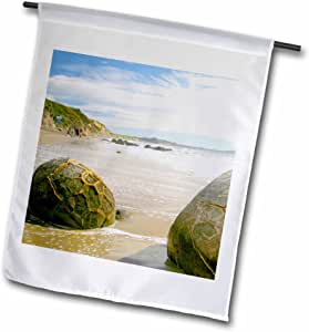 Danita Delimont - Rock Formations - Koekohe Beach, New Zealand, Moeraki boulders, rocks-AU02 MWR0190 - Micah Wright - 18 x 27 inch Garden Flag (fl_74731_2)