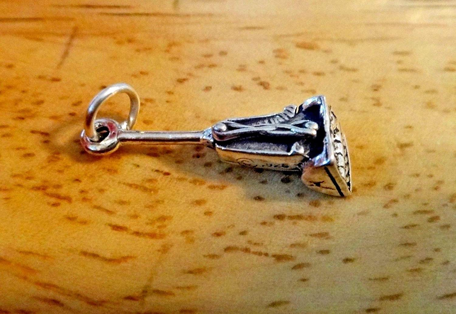 Fine Charms 1 Sterling Silver 3D 21x7mm Vacuum Cleaner