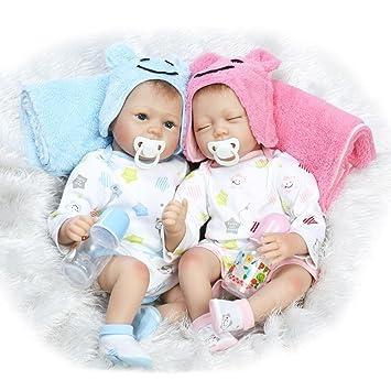 Amazon.es: ZELY Recién Nacidos Gemelos Dolls 22 Pulgadas 55 ...