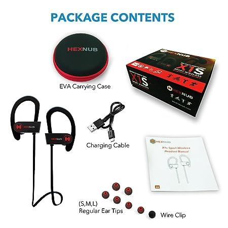 Auriculares inalámbricos Bluetooth HEXNUB X1S con resistencia al sudor IPX5, perfectos para hacer deporte, correr, hacer ejercicio, ciclismo e ir al ...