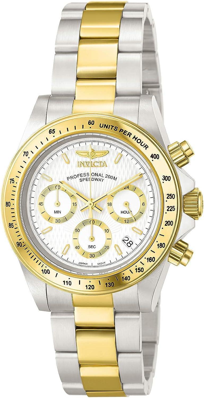 Invicta 9212 Speedway Reloj Unisex acero inoxidable Cuarzo Esfera blanco