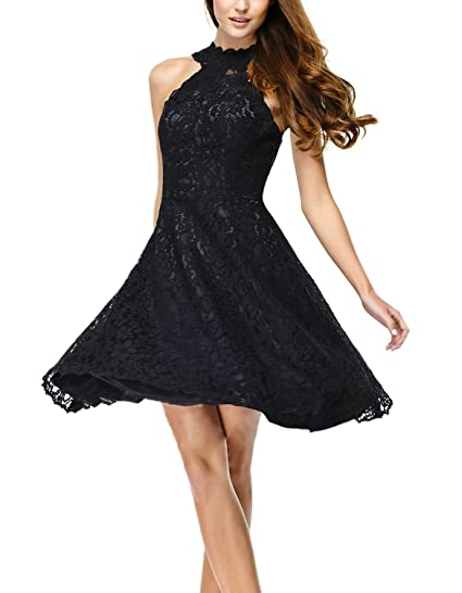 Womens Little Black 50s 60s 80s Vintage Prom Dress Evening Cocktail