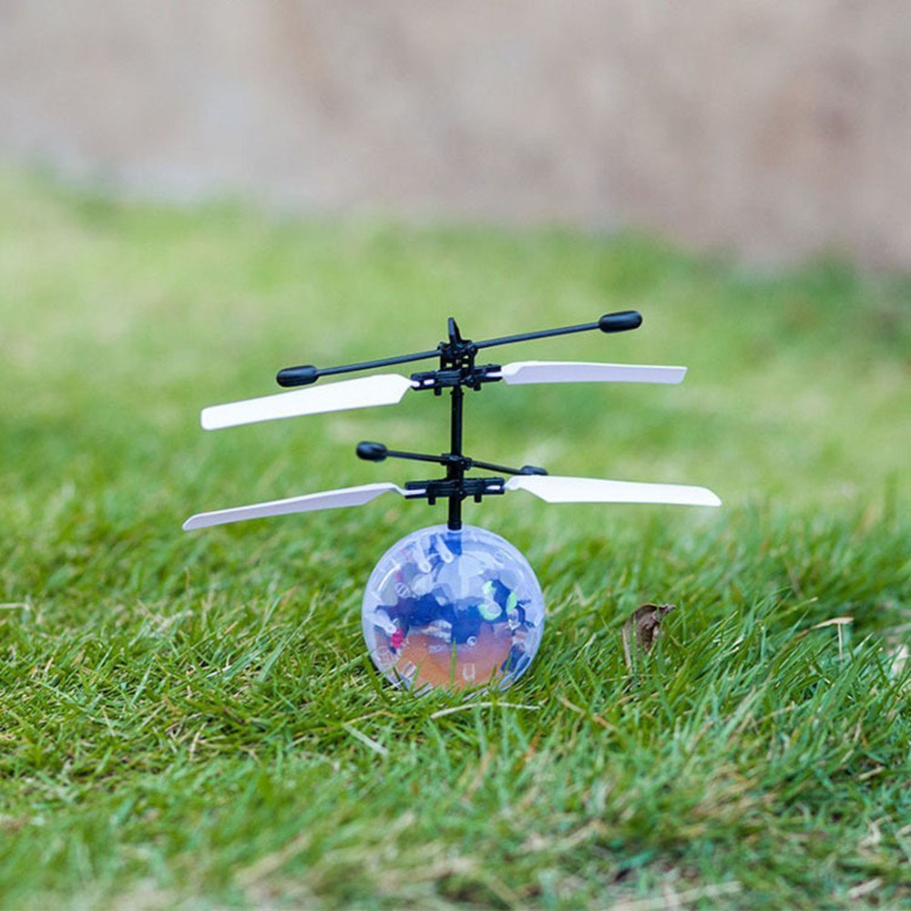 RC Toy, RC Flying Ball, Mini RC infrared Induction Drone Hand Suspension Helicopter Flying Balls Built
