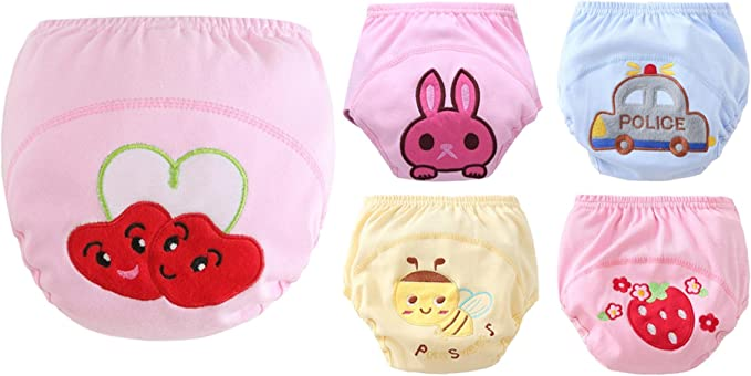 Adorel Baby Girls Potty Training Pants Reusable Pack of 5