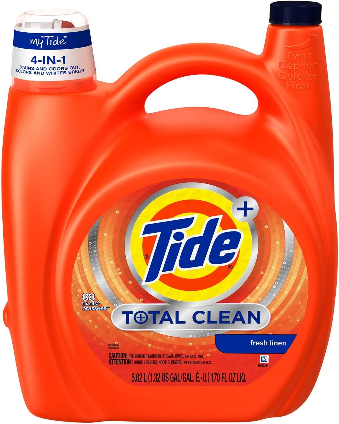Tide Liquid He Total Clean (88 Loads, 170 Oz.)