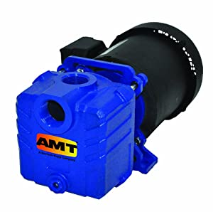 "AMT Pump 285E-95 Self-Priming Centrifugal Pump, Cast Iron, 1/2 HP, 1 Phase, 115/230 V, Curve A, 1"" NPT Female Suction & Discharge Ports"