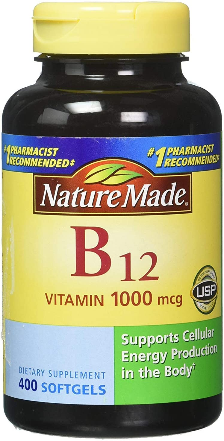 Nature Made Vitamin B-12 1000 mcg – 400 Softgels