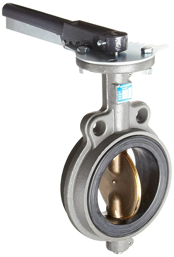 Unibody Stainless Steel 304 Disc Lever Handle 1-1//2 NPT Female Milwaukee Valve BB2-100 Series Bronze Butterfly Valve