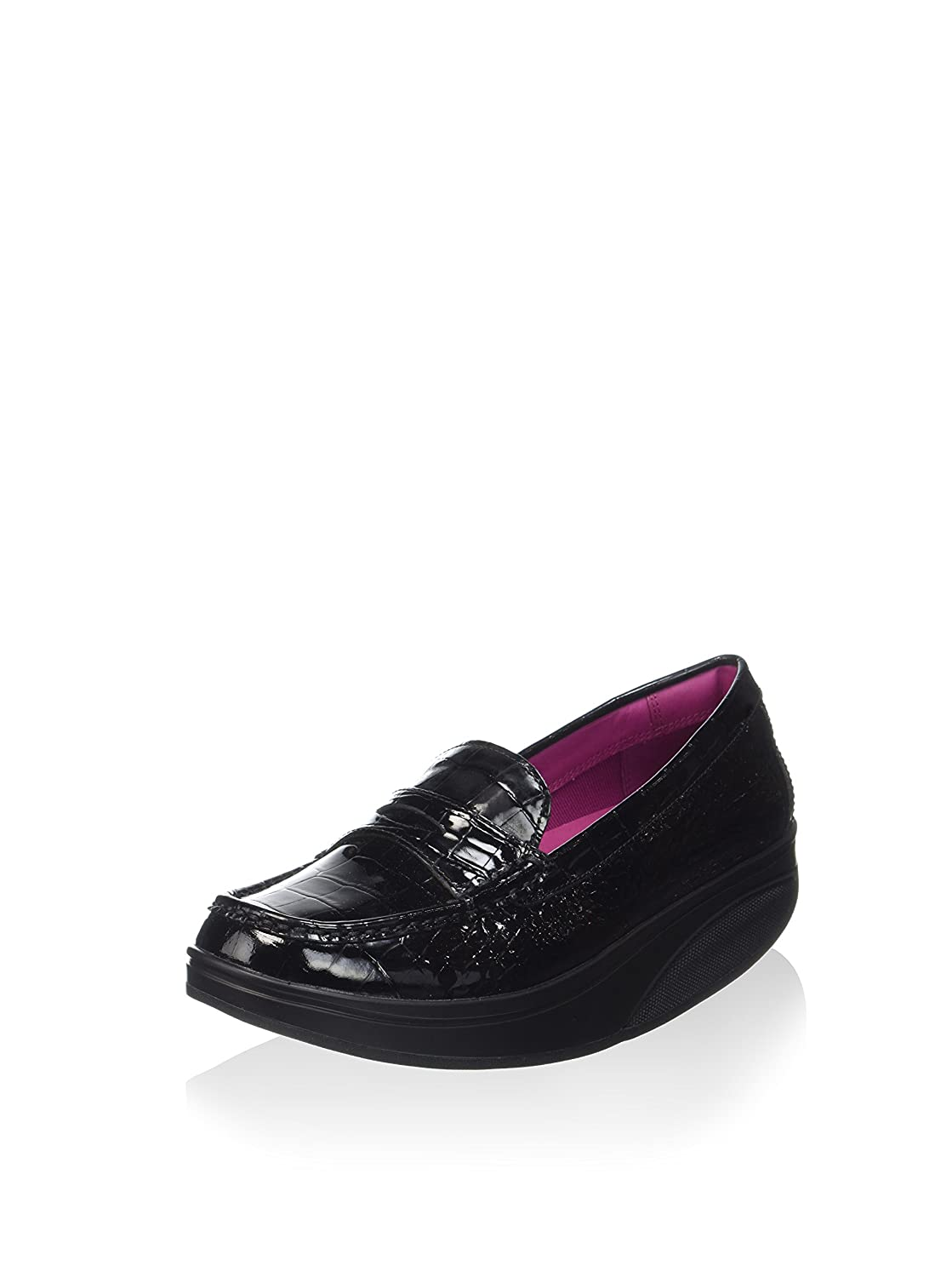 MBT Shani Luxe Penny Loafer, Mocassini Donna Nero (03p)
