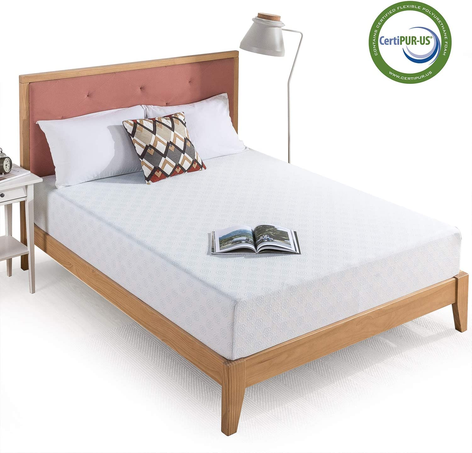 Zinus 10 Inch Gel-Infused Green Tea Memory Foam Mattress