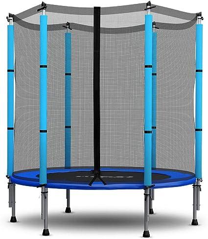 Trampolin Fur Kinder Mit Sicherheitsnetz 140 Cm 4 5ft Neo Sport Gartentrampolin Amazon De Sport Freizeit