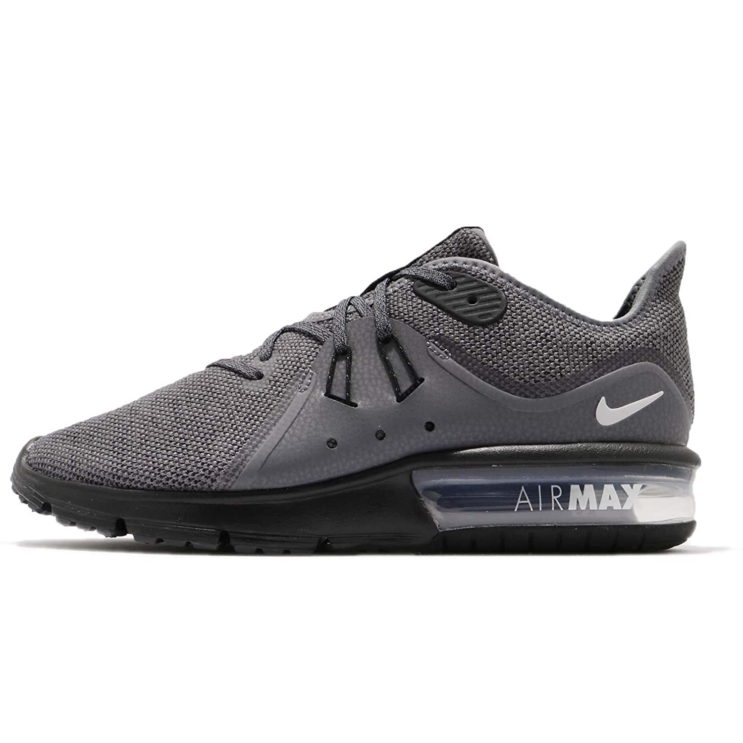 more photos 9dd86 b3310 NIKE Men s Air Max Sequent 3 Running Shoe (12 D(M) US, Dark Grey Metallic  Silver-Black)  Amazon.co.uk  Shoes   Bags
