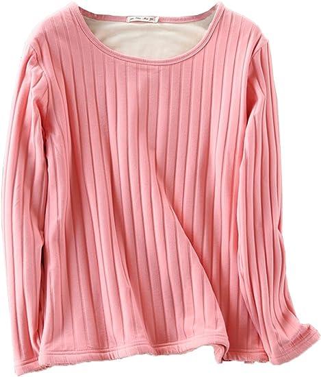 Atditama Womens Winter Thermal Sweatshirt Fleece Lined Stretch Long Sleeve Tunic Top