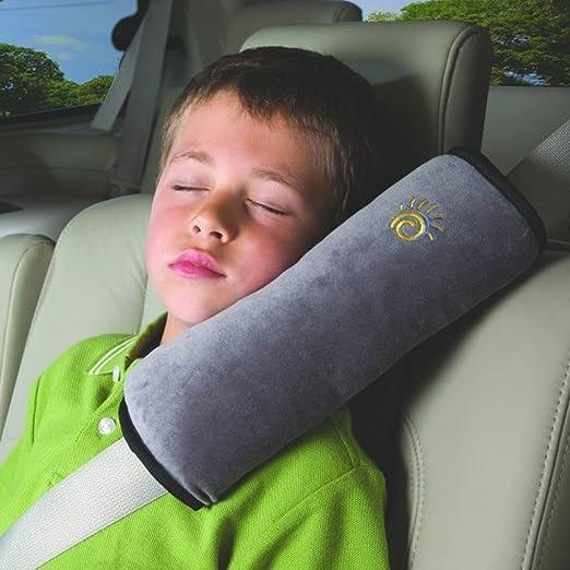 Yiizy Schlafkissen Nackenstütze Kopfkissen Gürtel Pillow Schulterschutz Für Kinder Auto Baby Sicherheitsgurt Autositz Children Seat Cushion Headrest Neck Support Kids Soft Shoulder Pillow Grau Auto