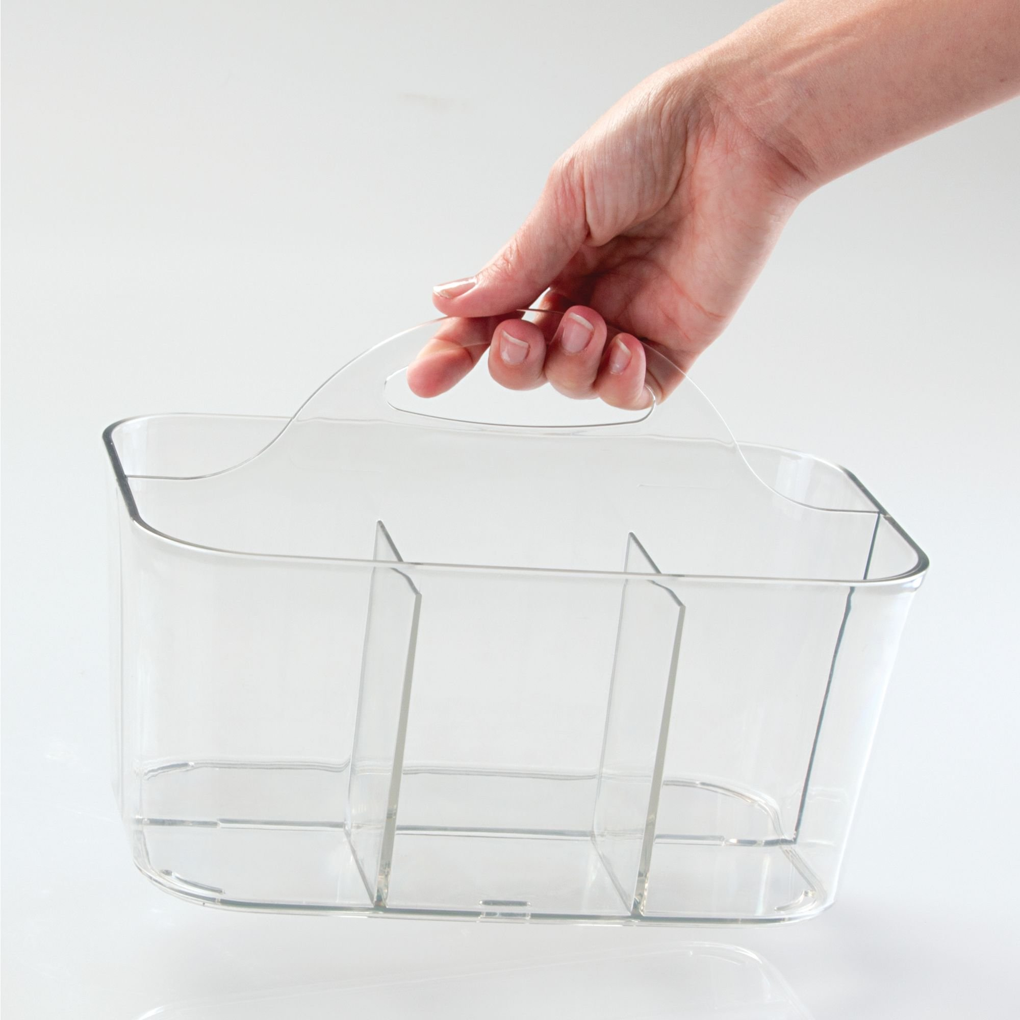 InterDesign Clarity Cutlery Flatware Caddy, Silverware, Utensil, and Napkin Holder - Clear by InterDesign (Image #7)