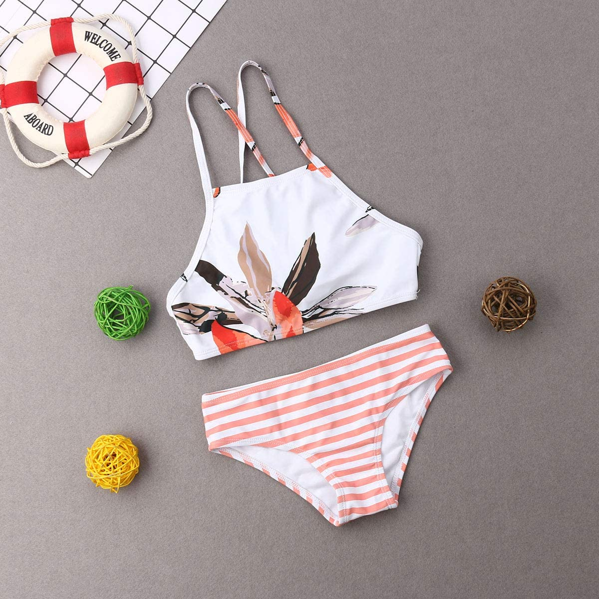 Mommy and Me Family Matching Beachwear Mother Girl Two Piece Swimwear